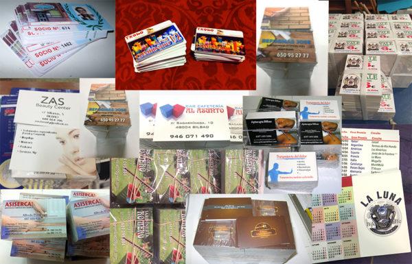 Selección de tarjetas comerciales variadas